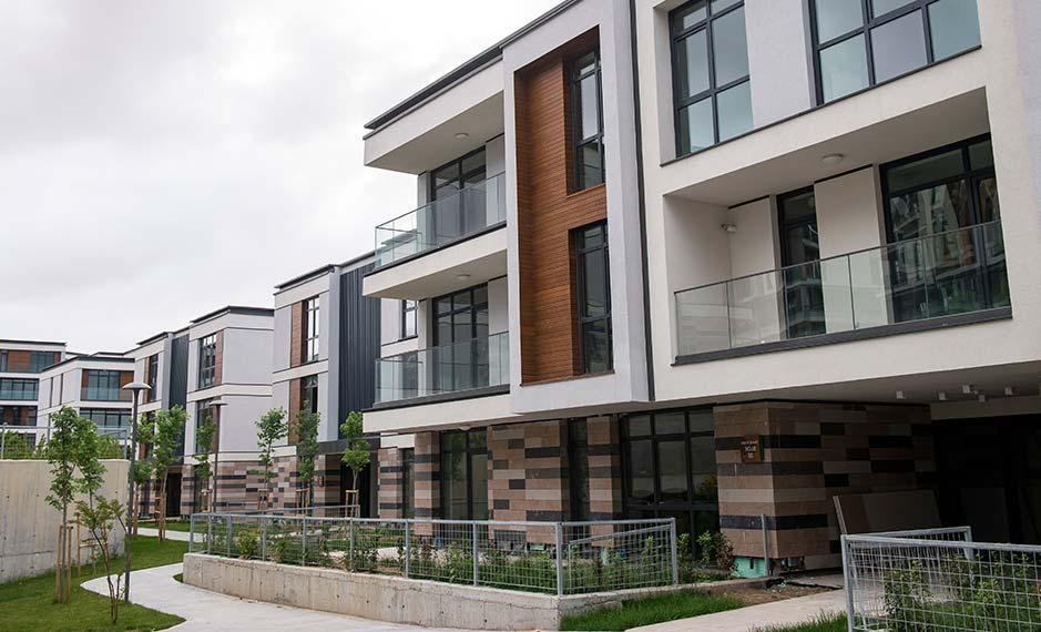Wood Grey Apartment Block